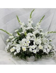 Centro flores difuntos....