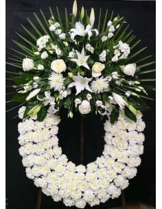 Corona difuntos flores...
