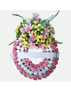 Corona flores difuntos....